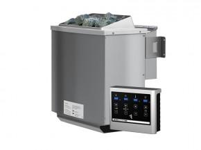 Karibu Bio-Kombiofen 4,5 kW inkl. Steuergerät Easy bio + 18 kg Diabas-Steinen + Anschlusskabel