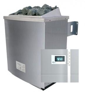 Karibu Saunaofen 4,5 kW finnisch inkl. Steuergerät Premium finnisch + 18 kg Diabas-Steinen + Anschlusskabel