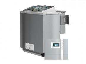 Karibu Bio-Kombiofen 4,5 kW inkl. Steuergerät Premium bio + 18 kg Diabas-Steinen + Anschlusskabel