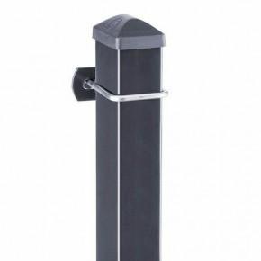 Zaunpfosten Doppelstabgitterzaun Typ U  RAL 7016 anthrazitgrau - Länge: 3000 mm