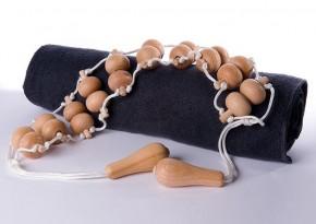 Rückenmassageband mit Holzkugeln aus Buche