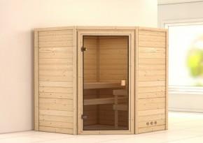 Woodfeeling 38 mm Massiv Sauna Franka Classic (Eckeinstieg)