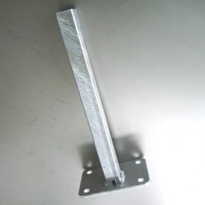 Fußplatte Doppelstabgitterzaun Zaunpfosten Typ A silbergrau verzinkt