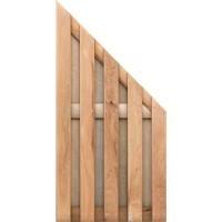 TraumGarten Sichtschutzzaun Jumbo Eiche Anschluss geölt - 89 x 179 auf 90 cm