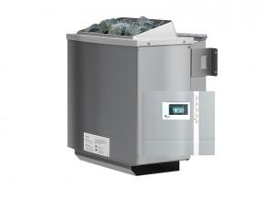 Karibu Bio-Kombiofen 9 kW inkl. Steuergerät Premium Bio + 18kg Diabas-Steinen