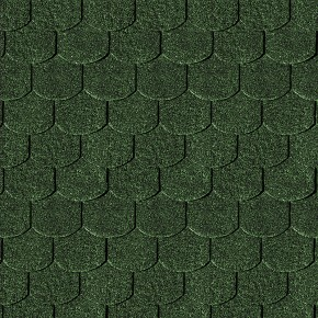 Karibu Dachschindeln Biberschwanz - Dunkelgrün
