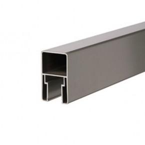 TraumGarten Adapter für Senkrecht Montage von System Profilen silber - 6 x 4 x 176 cm