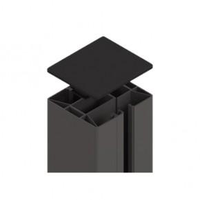 TraumGarten Zaunpfosten System Klemmpfosten Set anthrazit - 8 x 8 x 105 cm
