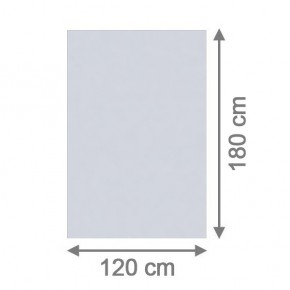 TraumGarten Sichtschutzzaun System Glas Matt Rechteck - 120 x 180 x 0,8 cm