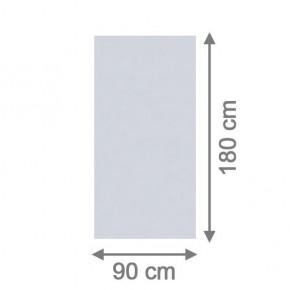 TraumGarten Sichtschutzzaun System Glas Matt Rechteck - 90 x 180 x 0,8 cm