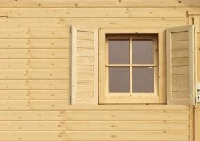Karibu Fensterläden für 28 mm Einzelfenster (80 x 34 x 2,8 cm) - natur