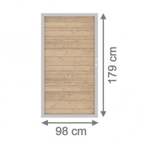 TraumGarten Gartentor System WPC DIN rechts sand / silber - 98 x 179 cm