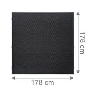 TraumGarten Sichtschutzzaun Textil-Geflecht Weave LÜX Rechteck anthrazit - 178 x 178 cm