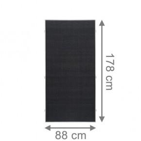 TraumGarten Sichtschutzzaun Textil-Geflecht Weave LÜX Rechteck anthrazit - 88 x 178 cm
