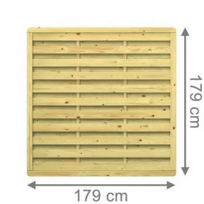 TraumGarten Sichtschutzzaun Nadelholz XL Rechteck kdi - 179 x 179 cm