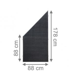 TraumGarten Sichtschutzzaun Textil-Geflecht Weave LÜX Rechteck anthrazit - 88 x 178 auf 88 cm
