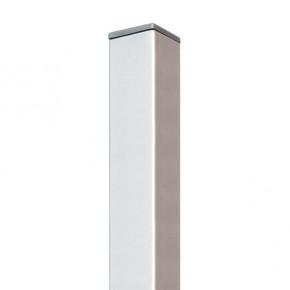 TraumGarten Zaunpfosten Weave silber - 6 x 6 x 150 cm
