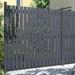 TraumGarten Sichtschutzzaun Squadra Rechteck anthrazit - 180 x 180 cm