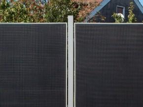 TraumGarten Zaunpfosten Weave silber - 6 x 6 x 240 cm
