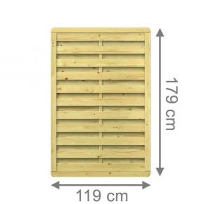 TraumGarten Sichtschutzzaun Nadelholz XL Rechteck kdi - 117 x 179 cm