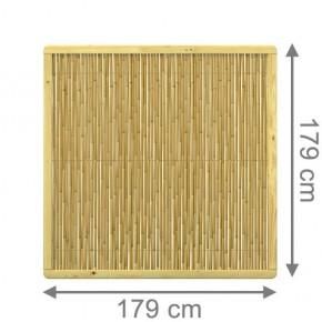 TraumGarten Sichtschutzzaun Nadelholz und Bambus Bambu Rechteck mit kesseldruckimprägnierten Rahmen - 179 x 179 cm