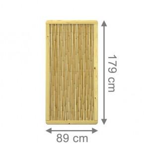 TraumGarten Sichtschutzzaun Nadelholz und Bambus Bambu Rechteck mit kesseldruckimprägnierten Rahmen - 89 x 179 cm