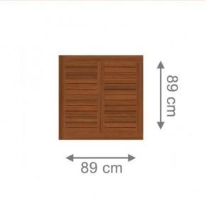 TraumGarten Sichtschutzzaun Grazia Rechteck braun lasiert - 89 x 89 cm
