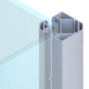 TraumGarten Zaunpfosten System Eck-Klemmpfosten  silber - 8 x 8 x 105 cm