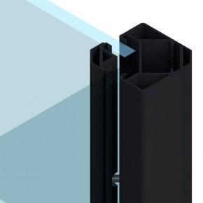 TraumGarten Zaunpfosten System Eck-Klemmpfosten  anthrazit - 8 x 8 x 105 cm