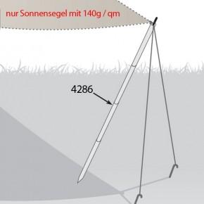 TraumGarten Befestigungsstangenset mobil für Sonnensegel Metall - 2 x 2 x 270 cm