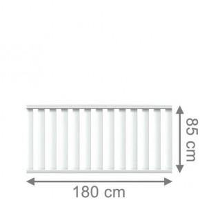 TraumGarten Vorgartenzaun Kunststoff Longlife Cleo Rechteck weiß - 180 x 85 cm