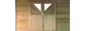 Karibu Rückwand-Element mit Doppeltür für Holz Einzelcarport