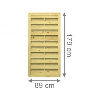 TraumGarten Sichtschutzzaun Nadelholz XL Rechteck 89 x 179 cm