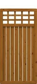 TraumGarten Sichtschutzzaun Como Rechteck mit Gitter braun lasiert - 89 x 178 cm