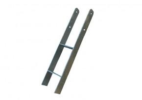 Karibu H-Pfostenanker für 12x12cm Pfosten - verzinkter Stahl
