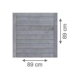 TraumGarten Vorgartenzaun Nadelholz Neo Rechteck grau lasiert - 89 x 89 cm