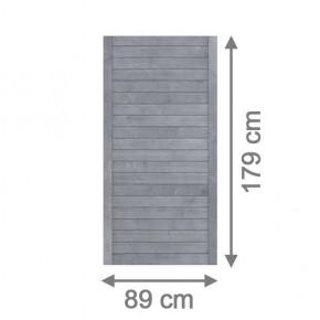 TraumGarten Sichtschutzzaun Nadelholz Neo Rechteck grau lasiert - 89 x 179 cm