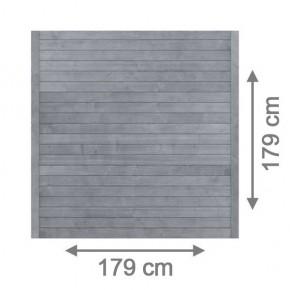 TraumGarten Sichtschutzzaun Nadelholz Neo Rechteck grau lasiert - 179 x 179 cm