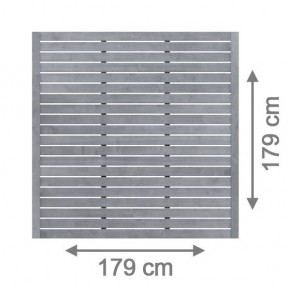 TraumGarten Sichtschutzzaun Nadelholz Neo Rechteck offen grau lasiert - 179 x 179 cm