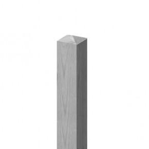 TraumGarten Zaunpfosten Diamantkopf Nadelholz grau lasiert - 9 x 9 x 100 cm
