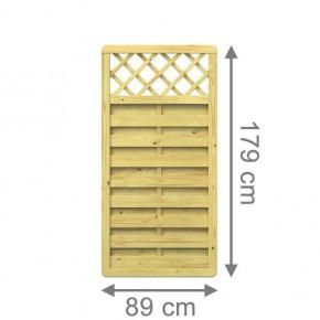 TraumGarten Sichtschutzzaun XL Rechteck mit Gitter x 89 x 179 cm