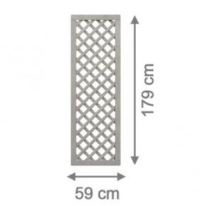 TraumGarten Rankgitter Nadelholz Rechteck grau lasiert - 59 x 179 cm