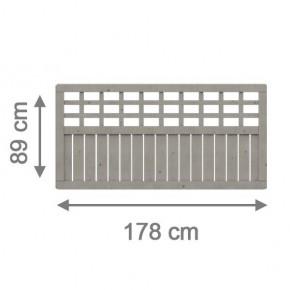 TraumGarten Sichtschutzzaun Como Rechteck grau lasiert - 178 x 89 cm