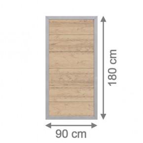 TraumGarten Sichtschutzzaun Design WPC Aluminium Rechteck sand 90 x 180cm