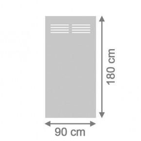 TraumGarten Sichtschutzzaun System Board Slot-Design Aluminium Rechteck mit Gitter titangrau - 90 x 180 x 0,6 cm