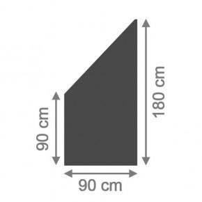 TraumGarten Sichtschutzzaun System Board Anschluss schiefer - 90 x 180/90 x 0,6 cm