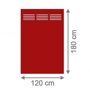 TraumGarten Sichtschutzzaun System Board Slot-Design Aluminium Rechteck mit Gitter rot - 120 x 180 x 0,6 cm