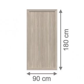 TraumGarten Sichtschutzzaun Kunststoff Longlife Riva Rechteck polareiche - 90 x 180 cm
