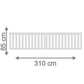 TraumGarten Vorgartenzaun Longlife Cleo Doppeltor weiß - 310 x 85 cm