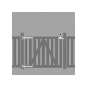 TraumGarten Beschlagsatz verzinkt für Raja WPC Einzeltor